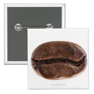 Grano de café de la carne asada, tiro del estudio pin cuadrada 5 cm