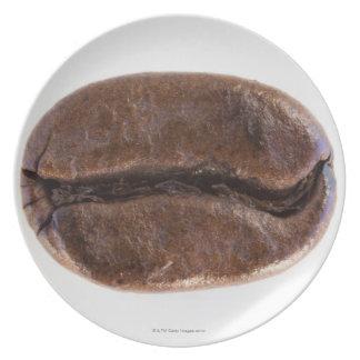 Grano de café de la carne asada, tiro del estudio platos de comidas