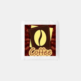 Grano de café del ejemplo bolsa reutilizable
