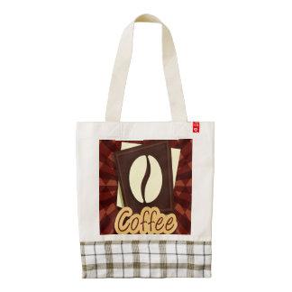 Grano de café del ejemplo bolsa tote zazzle HEART