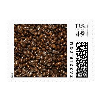 Grano de café estampilla