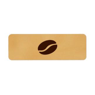 Grano de café etiquetas de remite