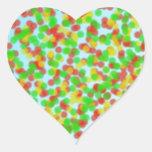 grano de la arena colorido pegatinas corazon
