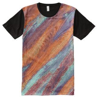 Grano de madera #3 del color retro