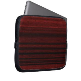 Grano de madera de caoba funda portátil