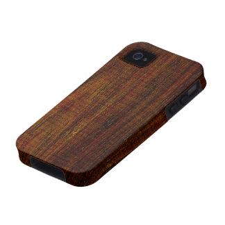 Grano de madera de Cocobolo iPhone 4/4S Carcasa