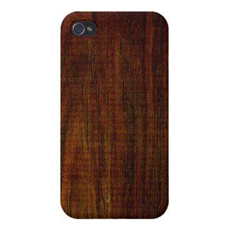 Grano de madera de Cocobolo iPhone 4 Cárcasas