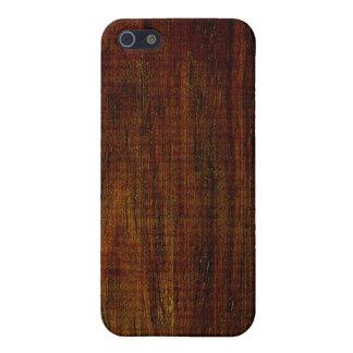 Grano de madera de Cocobolo iPhone 5 Carcasas