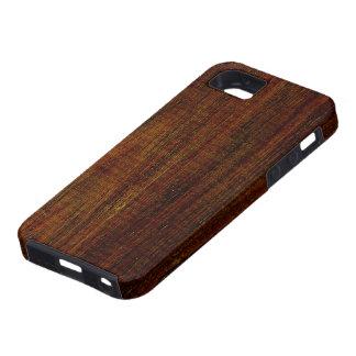 Grano de madera de Cocobolo iPhone 5 Carcasa