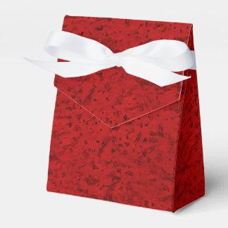 Grano de madera de la mirada del corcho del rojo cajas para detalles de boda