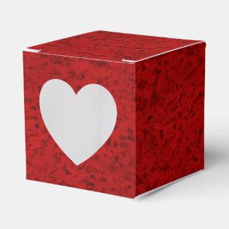 Grano de madera de la mirada del corcho del rojo cajas para regalos