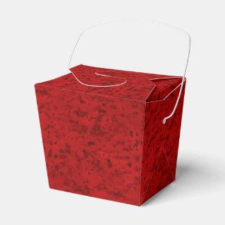 Grano de madera de la mirada del corcho del rojo cajas para regalos de boda