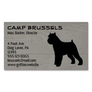 Grano de madera de la silueta de Bruselas Griffon Tarjetas De Visita Magnéticas (paquete De 25)