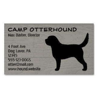 Grano de madera de la silueta del Otterhound Tarjetas De Visita Magnéticas (paquete De 25)