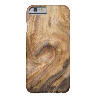 Grano de madera de Swirly Funda Para iPhone 6 Barely There