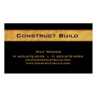 Grano de madera de tarjeta de visita del contratis