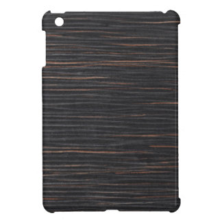 grano de madera del ébano iPad mini cobertura
