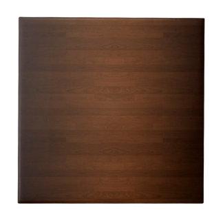 Grano de madera duro muy oscuro del piso azulejo cuadrado pequeño
