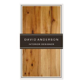 Grano de madera elegante moderno del diseño tarjetas de visita