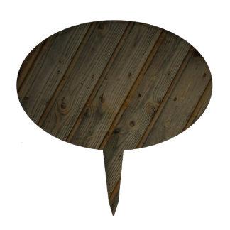 Grano de madera falso abstracto figuras de tarta