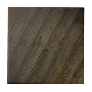 Grano de madera falso abstracto azulejo cuadrado pequeño
