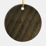 Grano de madera falso abstracto ornamentos de reyes