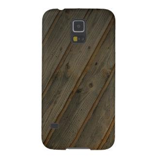 Grano de madera falso abstracto fundas de galaxy s5