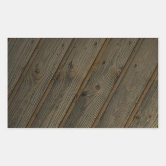 Grano de madera falso abstracto pegatina rectangular