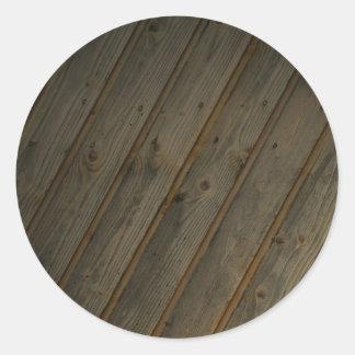 Grano de madera falso abstracto pegatina redonda