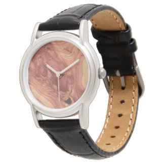 Grano de madera fantástico relojes de pulsera