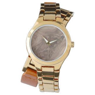 grano de madera fantástico suave reloj