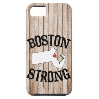 Grano de madera fuerte de Boston iPhone 5 Funda