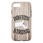 Grano de madera fuerte de Boston Funda iPhone 7