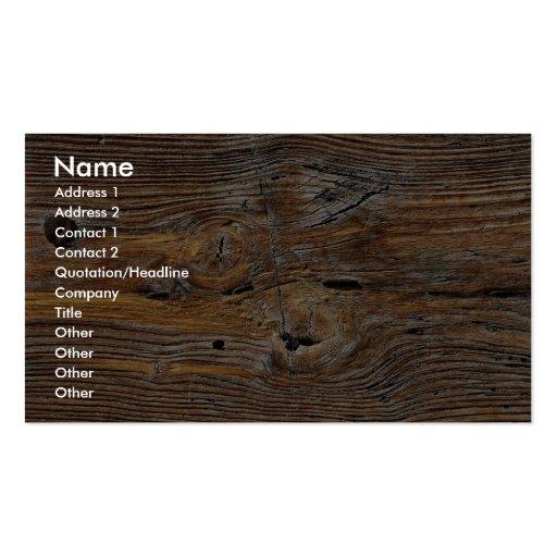 Grano de madera, hoja de la madera resistida tarjetas de visita
