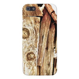 Grano de madera iPhone 5 carcasa