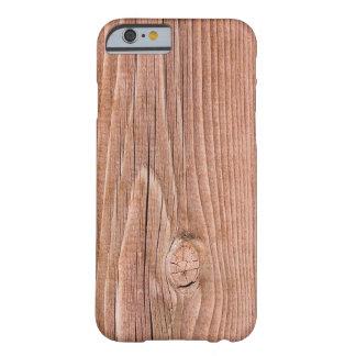 Grano de madera levemente resistido nudoso funda de iPhone 6 barely there