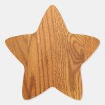 Grano de madera natural ligero colcomanias forma de estrellas