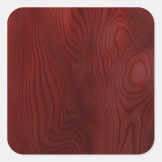Grano de madera oscuro pegatina cuadrada