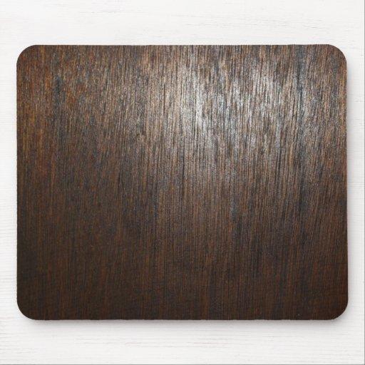 Grano de madera oscuro tapetes de ratones