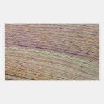 Grano de madera pegatina rectangular