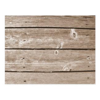 Grano de madera postal