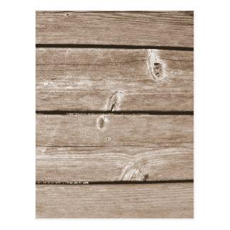 Grano de madera postales