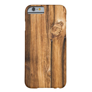 Grano de madera resistido funda para iPhone 6 barely there