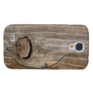 Grano de madera rústico - nudoso funda para galaxy s4