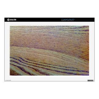 Grano de madera skins para portátil