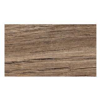 Grano de madera tarjetas de visita