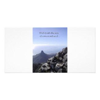 grano de mostaza tarjetas fotográficas personalizadas