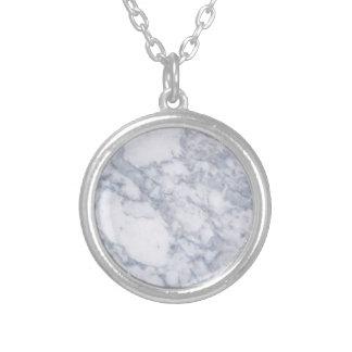 Grano de piedra de mármol blanco/textura colgante personalizado