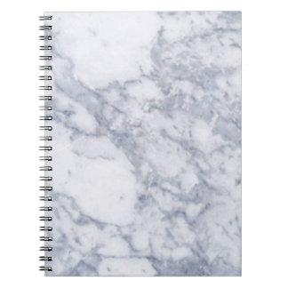 Grano de piedra de mármol blanco/textura notebook