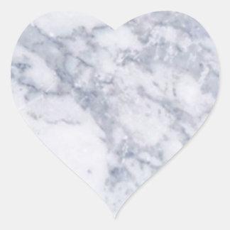 Grano de piedra de mármol blanco/textura pegatina en forma de corazón
